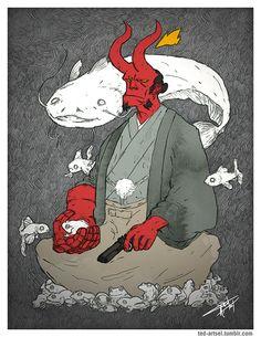 Hellboy Fan Art by Ted Artsel