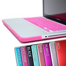 Hard Rubberized Case + Keyboard Cover For MacBook Pro 13 Air 13 11 Pro 15 Retina - hot pink