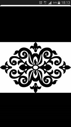 Symmetric ornament pattern in Victorian style. Quilting Stencils, Quilting Templates, Obi Wan, Small Canvas Paintings, Cnc, Diy Papier, Best Gifts For Her, Painted Ornaments, Fake Tattoos