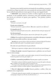 Página 219  Pressione a tecla A para ler o texto da página