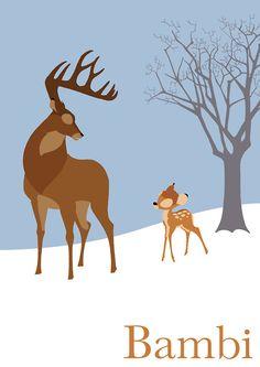 #Poster | 'Bambi', definida por muchos como la película de Disney más dramática-aterradora (todos recordamos el momento del fatídico disparo :S) www.beewatcher.es