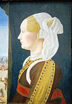Ercole de' Roberti (artist) Italian, c. 1455/1456 - 1496 Ginevra Bentivoglio, c. 1474/1477.