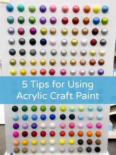 I love using craft paint - it's one of my top crafting supplies. In this article I share my 8 favorite tips and tricks for how to use acrylic paint. Great for beginners. Tole Painting, Painting Tips, Chalk Painting, Beginner Painting, Fun Crafts, Arts And Crafts, Paper Crafts, Diy Spring, Acrylic Craft Paint