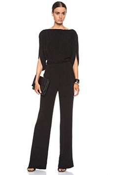 eb66aa51f9d Diane von Furstenberg DEZI Jumpsuit in BLACK at Amazon Women s Clothing  store  Black Jumpsuit