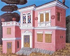 Kallifronas House in Athens Greek Paintings, Pintura, Surrealist, Fine Art, Contemporary Modern Art, Painter, Painting, Art, Contemporary Art