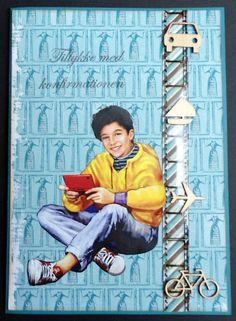 konfirmationskort dreng