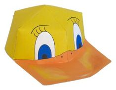Free Templates for Baby Duck Cap for Easter Duck Crafts, Hat Crafts, Easter Crafts, Paper Plate Crafts, Paper Crafting, Preschool Projects, Crafts For Kids, Duck Mask, Duck Costumes