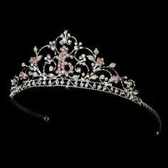 Elegance by Carbonneau HP-466-16-S-Pink Shimmering Sweet 16 Pink Rhinestone Tiara in Silver 466 $26.10