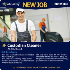SEEKING A CUSTODIAN CLEANER - WICHITA, KS  #jobs #jobopening #cleaner #generaljobs   #wichita #kansas #kansasjobs #job #gallery #jobgallery #jobposting