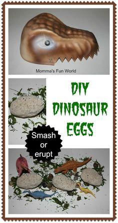 Momma's Fun World: Dinosaur eggs erupting bath fun - Dino Eggs you can smash or erupt!