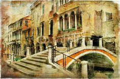 Quadro Canvas <br> (Venice Streets - Artistic Picture)