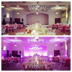 Lake Mary event center wedding with Orlando wedding dj and lighting our dj rocks