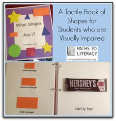 Check out this tactile book of shapes for young children who are blind or visually impaired!