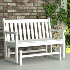 POLYWOOD Traditional Garden 48 in Glider - Benches