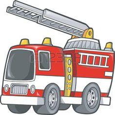 Camión de bomberos. Ilustración vectorial.