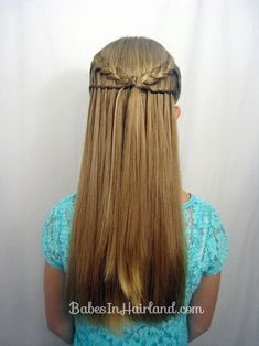 Feather Braid & Waterfall Twist - Babes In Hairland Braided Hairstyles Updo, Down Hairstyles, Wedding Hairstyles, Updo Hairstyle, Hairdos, Waterfall Twist, Waterfall Braids, Feather Braid, Girl Hair Dos