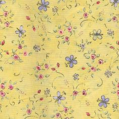 "Yellow floral ditsy print that I bought from ""In the Beginning"" fabrics when I had my childrens wear line."