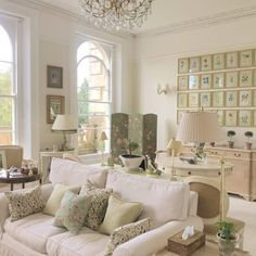 A Charming Countryside Cottage - The Glam Pad English Living Rooms, Formal Living Rooms, Home Decor Signs, Cheap Home Decor, English Country Style, Welsh Country, Inexpensive Furniture, Farmhouse Kitchen Decor, Industrial House