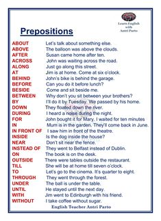 Prepositions #LearnEnglish @AntriParto