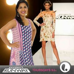 The first winning look of Season 13!! Sandhya Garg's look was one that some of her fellow designer's didn't get but the judges did. So did I.