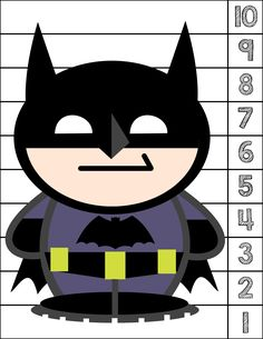 Batman #1-10 Counting Puzzle - Activities For Toddlers With Autism