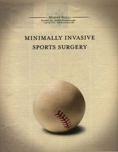Mount Sinai advertising. Brilliant, and still keeping with our baseball theme from the last pin.  https://www.facebook.com/pages/Creative-Mind/319604758097900