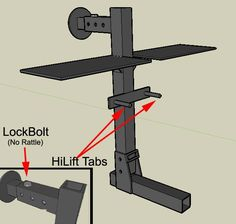 Hitch Tire carrier + cas can & HiLift mounts - NAXJA Forums -::- North American XJ Association