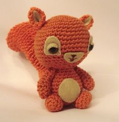 amigurumi squirrel,my newest pattern using the new stitch amigurumi squirrel