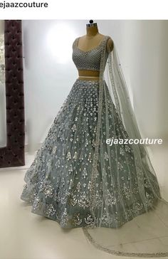 Image may contain: one or more people Indian Wedding Gowns, Desi Wedding Dresses, Party Wear Indian Dresses, Indian Gowns Dresses, Indian Bridal Outfits, Dress Indian Style, Indian Fashion Dresses, Indian Designer Outfits, Designer Dresses