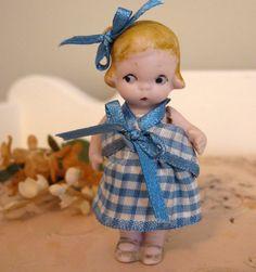 Miniature German Doll Sideways Glancing Girl by Somethingcharming