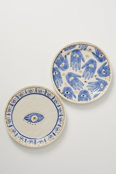 Insight Dessert Plate By Anthropologie in Blue Size DST PLATE Isle Of Man, Deco Bobo, Style Marocain, Anthropologie Home, Kitchen Collection, Side Plates, Serving Platters, Clay Crafts, Clay Projects
