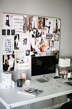 Brand Stylist and Owner of small shop Erika Brechtel theeverygirl office inspiration - Bedroom Design Ideas Office Inspiration, Decoration Inspiration, Inspiration Boards, Office Ideas, Office Inspo, Decor Ideas, Desk Inspo, Moodboard Inspiration, Bedroom Inspiration