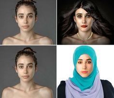 Essa foto foi tratada no Photoshop em 25 diferentes países com o mesmo briefing: deixar a moça mais bonita