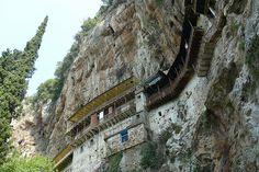 Monastery on the rocks! St John the Prodrome's Monastery - Stemnitsa village (Arcadia region) in Peloponnese