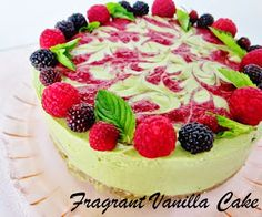 Raw Green Tea Mint Raspberry Dream Cake