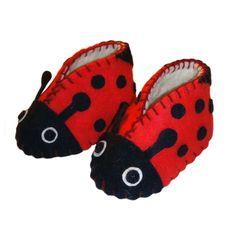 Ladybug Zooties Baby Booties - Silk Road Bazaar