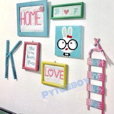Popsicle Stick Crafts, Craft Stick Crafts, Diy And Crafts, Crafts For Kids, Diy Room Decor, Bedroom Decor, Home Decor, Bedroom Hacks, Handmade Decorations