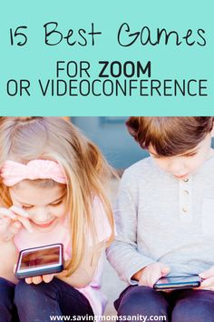 Connect with your family and friends with the best games to play on Zoom or any other videoconferencing service. These games are will entertain all ages and make your next video call more exciting and fun! Virtual Games For Kids, Games For Kids Classroom, Games To Play With Kids, Games For Teens, Games For School, Online Games For Kids, Kids Fun, Family Game Night, Family Games