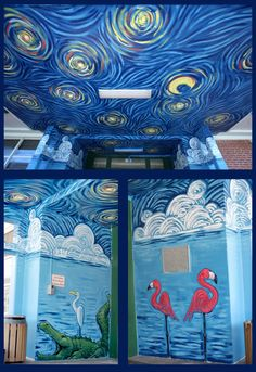 school mural by MattBenn8.deviantart.com LIKE-minus the animals