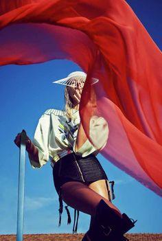 Vika Falileeva by Urivaldo Lopes for French Revue de Modes #24