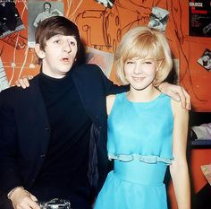 theswingingsixties: Ringo Starr and Sylvie Vartan The Beatles 1, Vartan Sylvie, Francoise Hardy, Twist And Shout, Let Your Hair Down, The Fab Four, Wife And Girlfriend, Ringo Starr, Mode Vintage