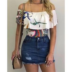 Swans Style is the top online fashion store for women. Shop sexy club dresses, jeans, shoes, bodysuits, skirts and more. Teen Fashion Outfits, Cute Fashion, Look Fashion, Trendy Outfits, Cute Summer Outfits, Spring Outfits, Pinterest Fashion, Skirt Outfits, Clothes For Women