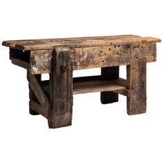 Primitive Workbench, England, Century For Sale at Primitive Furniture, Country Furniture, Recycled Furniture, Industrial Furniture, Table Furniture, Country Decor, Outdoor Furniture, Primitive Decor, Farmhouse Furniture