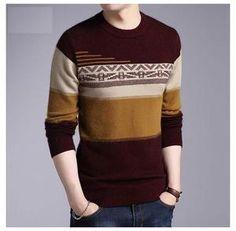 Designer Cashmere Mink Wool Pullover Sweater - COODRONY Knit Jacket, Sweater Jacket, Men Sweater, Mens Hottest Fashion, Mens Fashion, Fleece Patterns, Cashmere Wool, Mink, Pullover Sweaters