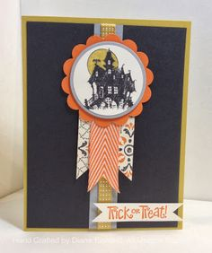 Stampin' Fun with Diana: Hand Stamped Sentiments Sketch Challenge: Best of Halloween Halloween Tags, Holidays Halloween, Halloween Crafts, Card Making Inspiration, Making Ideas, Fall Cards, Holiday Cards, Hand Gestempelt, Challenge
