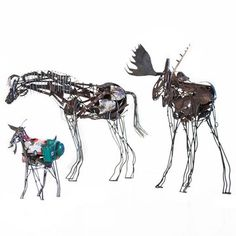 Fab.com | Layered Metal Animal Sculptures MALEN PIERSON THESE ARE FABULOUS