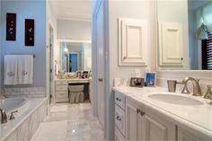 Beautiful white marble bathroom