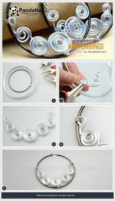 Jewelry Making Tutorial--How to Make Your Own Wire Wrap Hoop Earrings #JewelryTips