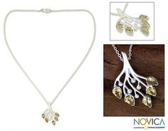 Citrine and Sterling Silver Artisan Crafted Necklace - Summer Song | NOVICA