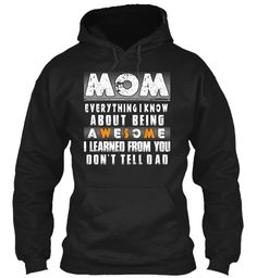 Mommy And Me Outfits  Black Sweatshirt Front
